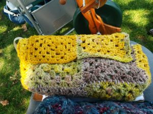 Purse Patti made from her crocheted granny squares
