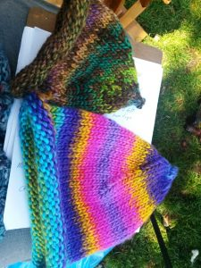 Margaret's knitted pointed hats