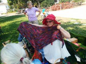Margaret's new triangular shawl